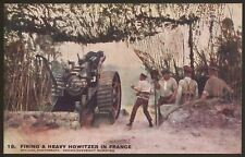 Firing A Heavy Howitzer In France - WW1 Daily Mail Battle Pictures Postcard