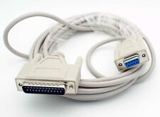 15Ft. DB9 Female to DB25 Male AT Serial Modem Cable with Thumbscrews ASM-15FM