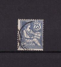timbre France  Mouchon   25c  bleu    num: 127  oblitéré
