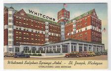 Whitcomb Sulphur Springs Hotel St Joseph Michigan linen postcard