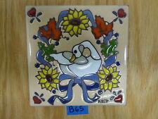 "Ceramic Art Tile 6""x6"" Country kitchen goose duck hot plate trivet wall B65"