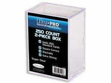 Lot of 5 Ultra Pro 250 Count 2 Piece Card Clear Storage Box Boxes New