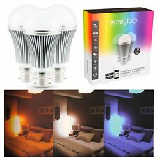 Nuglo LED Multi Colour Changing Bulbs 3 Pack App Controlled Light WiFi Timer