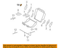 Toyota Genuine 72690-60040-B0 Seat Cushion Lock Release Lever Assembly