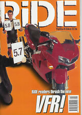 RIDE Jan 1998 R850R  Monster M900  Tiger 900  TDM850  Fireblade CBR900RR  VFR750