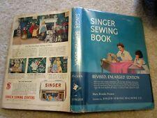 1954 1st UK Edit SINGER SEWING BOOK HC/DJ Mary Picken Color Illus Fabrics Rooms