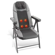 Portable Foldable Massage Chair, Heated Electric Neck and Back Seat Massager
