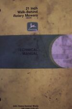 "JOHN DEERE TECHNICAL MANUAL 21"" WALK-BEHIND ROTARY MOWERS"