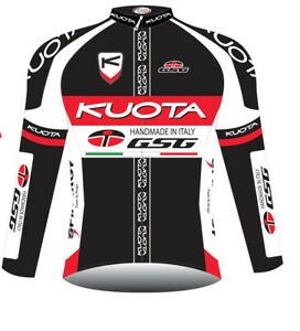 KUOTA GSG LONG SLEEVE JERSEY RED/WHITE ROUBAIX WINTER