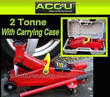 Car Van 4x4 2 Tonne 2T 2000Kg Heavy Duty Hydraulic Floor Trolley Jack With Case