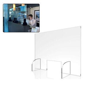 Thekenaufsatz Schutzscheibe Spuckschutz Plexiglas Schutzwand mit Durchreiche AB