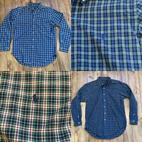 Ralph Lauren Men's Medium Classic Fit Plaid Button Down Lot Of 2 Shirts