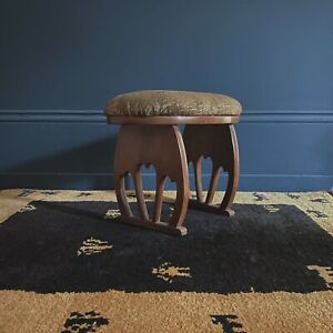 Antique Japanese Arts And Crafts Footstool