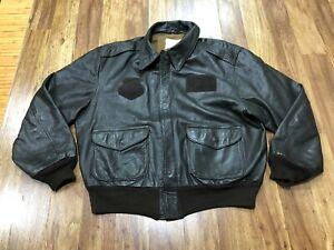 MENS 48 - Vtg Avirex A-2 Flight Leather Jacket Made USA