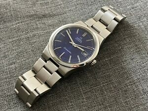 Vintage OMEGA 166.0173 Automatic Date S/STEEL BLUE DIAL Cal Ω 1012 RARE.