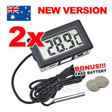 2x LCD Digital Thermometer for Fridge/Freezer/Aquarium/FISH TANK Temperature