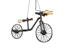 Industrial Steampunk Pipe Bicycle Pendant Light