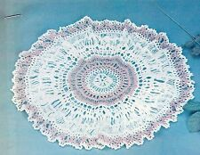 OLD_FASHIONED Hairpin Lace Doily/CROCHET PATTERN INSTRUCTIONS ONLY