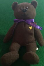 """The Cheesecake Factory 1999 TEDDY Bear CHOCOLATE MOUSSE Bear-In-A-Bag 7.5"""" Plush"""