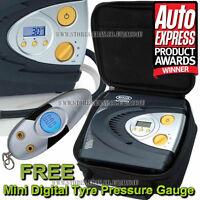 Ring RAC630 12v Automatic Digital Car Tyre Air Compressor Inflator + RTG4 Gauge
