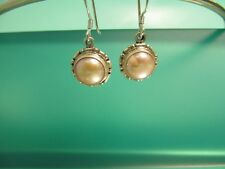 Pink Pearl 925 Sterling Silver Handmade Dangle Earring