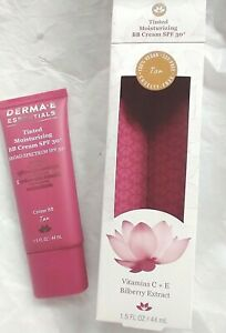 DERMA E Moisturizing BB Cream~TAN~ Tinted SPF 30+ ~1.5 oz ~ BB 5/21~ Lot of 3