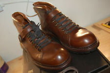 NU FRYE Men's George Norwegian Hiker Ankle Bootie Cognac 10.5 M $458 waterproof
