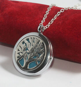 Baum des Lebens Medaillon Aromatherapie Öle Diffuser Anhänger Parfüm Halskette