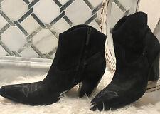 NEW Donald J Pliner Newbuck Leather Boots, Pointed Toe & Inside Zipper Sz 8