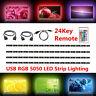 DC 5V 5050 RGB SMD LED Strip Light Bar TV Back Lighting Kit + USB Remote Control