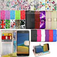 For Motorola Moto G5 -Wallet Leather Case Flip Stand Cover + Screen Protector