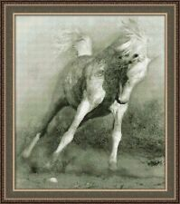 JUNO COUNTED CROSS STITCH KIT  WHITE HORSE  pets NEW