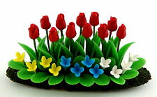 Beet Red Tulips Flowers Red Tulips Plants Dollhouse Dollhouse 1:12 Art D1128