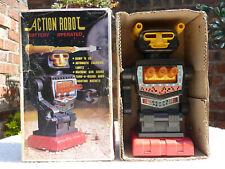 Vintage Boxed Action Robot 1970's Battery Operated Mini Jumbo Rocket Firing Old