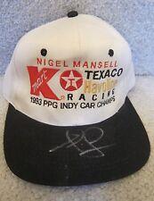 NIGEL MANSELL AUTOGRAPHED 1993 INDY CAR WORLD CHAMPION FORMULA 1 HAT-CAP