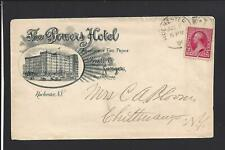 "ROCHESTER, NEW YORK, 1891,#220 ILLUST ADVT COVER, ""THE POWERS HOTEL""."