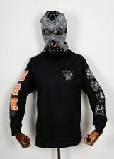 Huf Footwear Skate Shoes Longsleeve LS T-Shirt Tee Super Karate Black in S