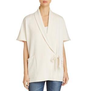 Eileen Fisher Womens Ivory Wrap Cardigan Sweater Jacket Petites PM/PL BHFO 3350