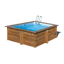 Piscina fuori terra da giardino in legno Carra Gre 300x300 interrabile