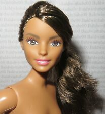 (A) ~ NUDE BARBIE BRUNETTE PONYTAIL CURVY NEYSA CHEF FASHIONISTA DOLL FOR OOAK