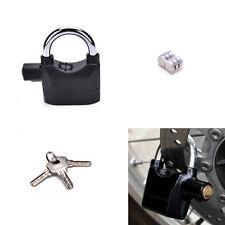 Anti-theft Padlock Sound Alarm Lock Security for Bike Bicycle Motorcycle Garage!