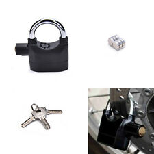 Anti-theft Padlock Sound Alarm Lock Security for Bike Bicycle MotorcycleGarageMW