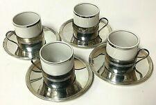 Vintage F.B. Rogers Silver Plate Espresso Demitasse Tea Cup Holder Set of 4