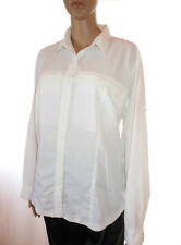 Womens Vtg Designe COLUMBIA GRT USA Sportswear White Wind Light Jacket sz L AH35