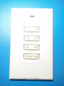 X10 PRO Model PHW04D Slim Wireless RF Wall Switch White USED