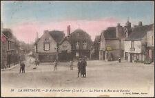 St AUBIN du CORMIER (35) - La Place et la Rue de la Garenne