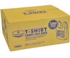 Plastic Bags With Handles T-Shirt Merchandise Grocery Carry Out 1000ct Thank You