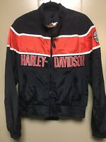 Harley Davidson Vintage Quilted Racing Jacket Size Medium