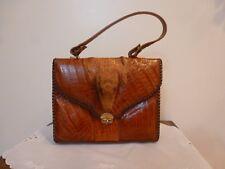 Vintage Genuine Alligator Leather Handbag Purse Excellent Condition USA Signed