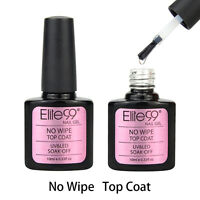 Elite99 No Wipe Top Coat UV LED Gel Nail Polish Soak Off Sealer No Tacky Layer